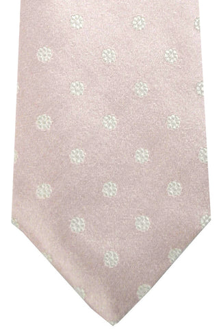 Luigi Borrelli Tie ROYAL COLLECTION Light Pink White Silver Floral