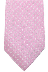 Luigi Borrelli Sevenfold Tie ROYAL COLLECTION Pink Silver