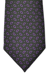 Luigi Borrelli Tie Brown Purple Paisley SALE