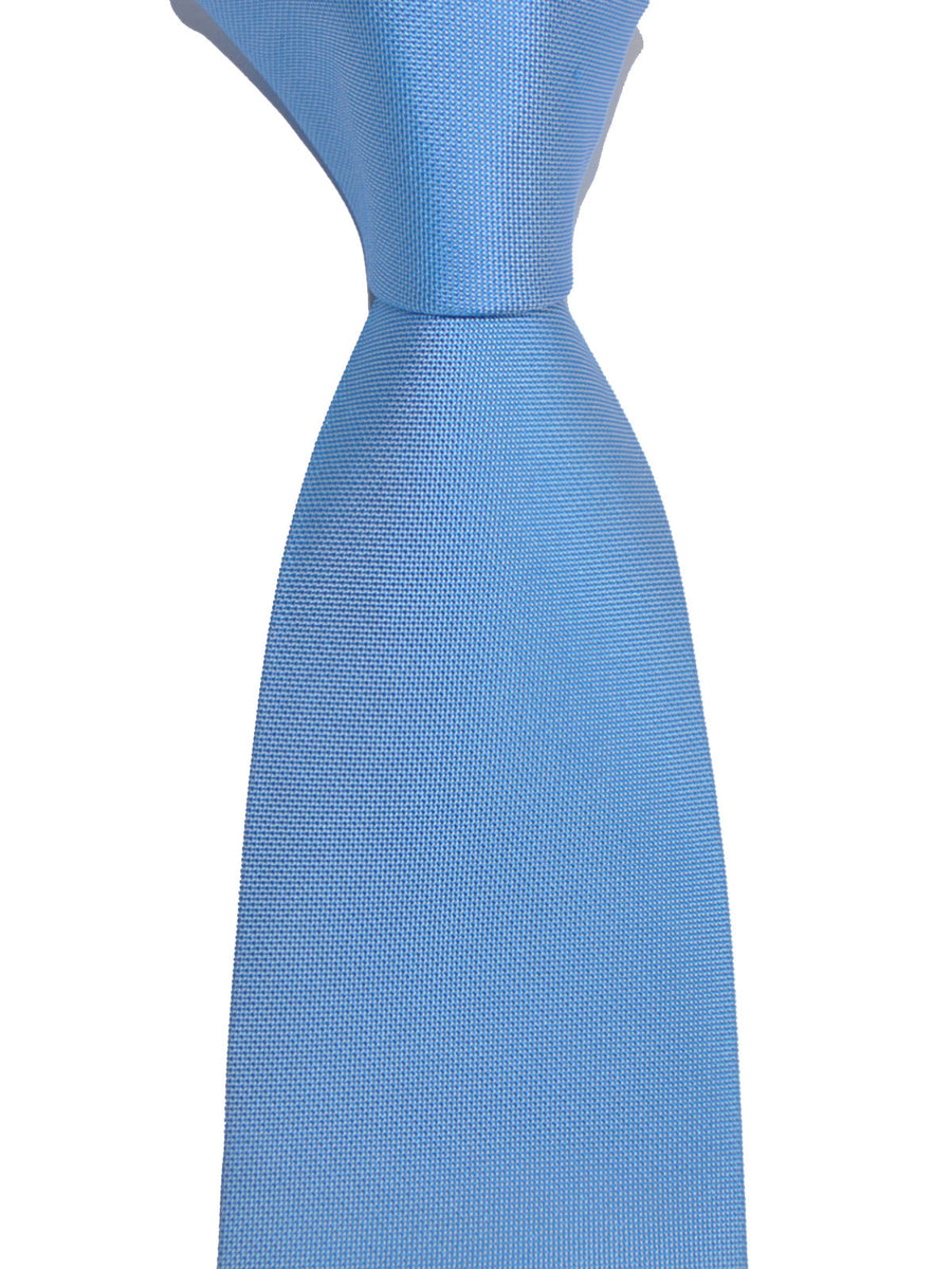 Luigi Borrelli Silk Tie Solid Blue