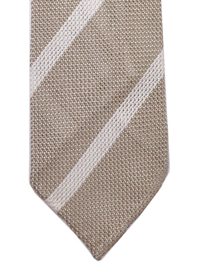 Luigi Borrelli Narrow Tie Taupe White