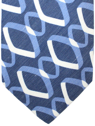 Luigi Borrelli 11 Fold Tie Dark Blue Geometric ROYAL COLLECTION - Elevenfold Necktie