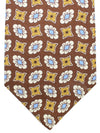 Luigi Borrelli Silk Tie Brown Blue Floral