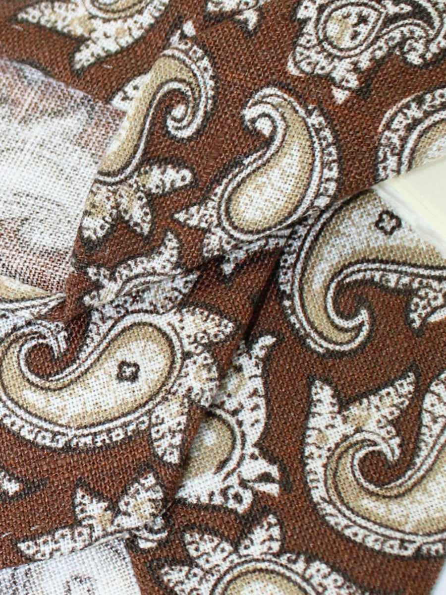 Luigi Borrelli Unlined Tie Brown Paisley