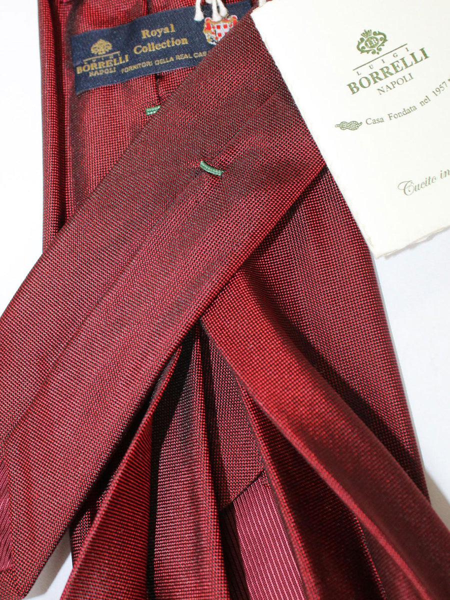 Luigi Borrelli 11 Fold Tie Burgundy Design ROYAL COLLECTION - Elevenfold Necktie
