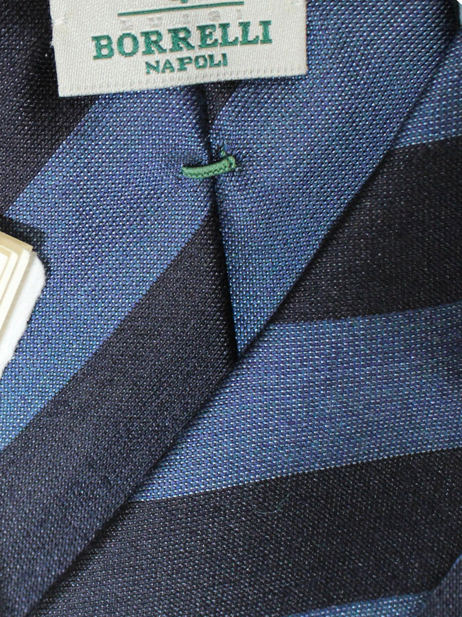 Luigi Borrelli Tie Midnight Blue Navy Stripes Design