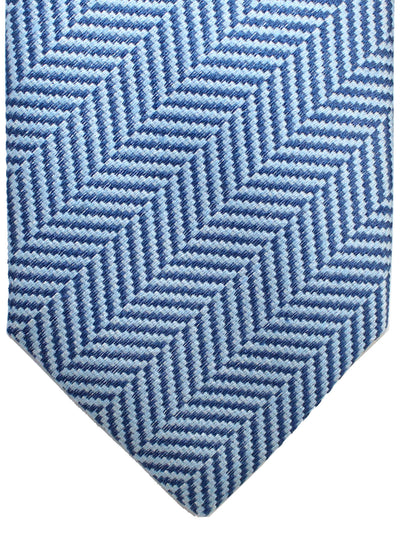 Luigi Borrelli 11 Fold Tie Blue Herringbone ROYAL COLLECTION