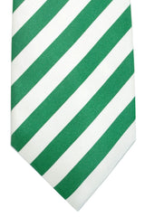 Luigi Borrelli Tie ROYAL COLLECTION White Green Stripes
