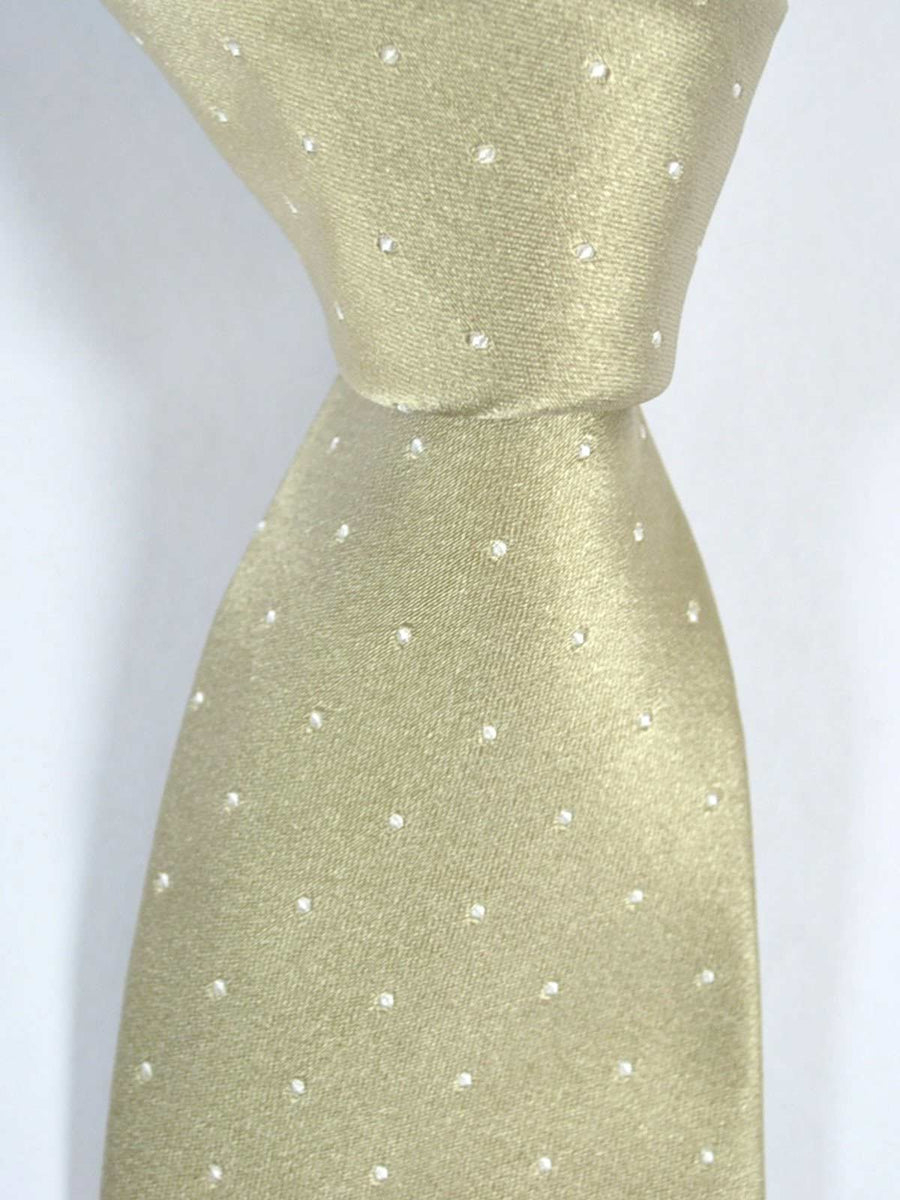 Luigi Borrelli Silk Tie Taupe Dots FINAL SALE