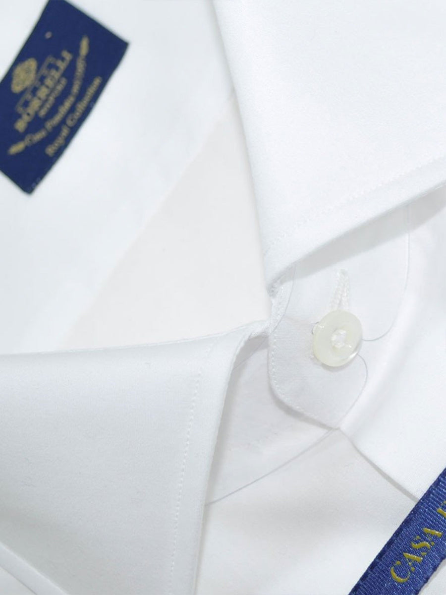 Luigi Borrelli Shirt Royal Collection White Dress Shirt
