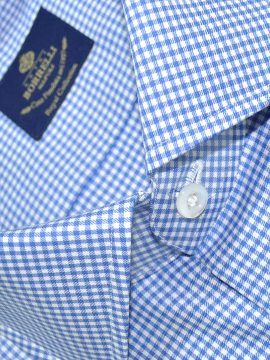 Luigi Borrelli Dress Shirt Royal Collection White Navy Check