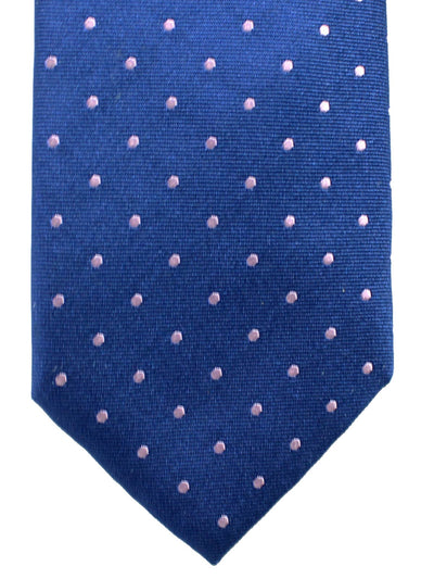 Hugo Boss Silk Tie Royal Blue Pink Dots