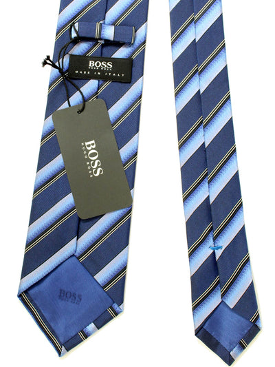 Hugo Boss Tie Navy Purple Stripes