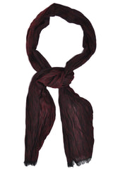 Botticelli Wool Scarf Burgundy Black Wrinkle - Made in Italy FINAL SALE