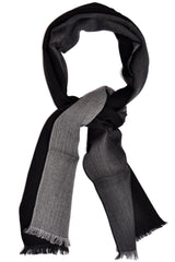 Giovanni Botticelli Wool Men Scarf Gray Black Shawl SALE