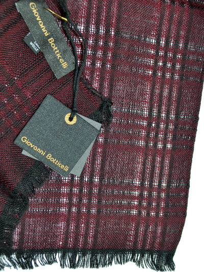 Giovanni Botticelli Wool Scarf Burgundy Black SALE