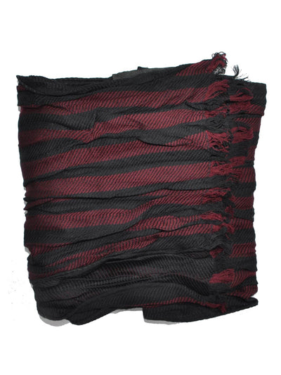 Giovanni Botticelli Wool Scarf Black Burgundy Wrinkle SALE