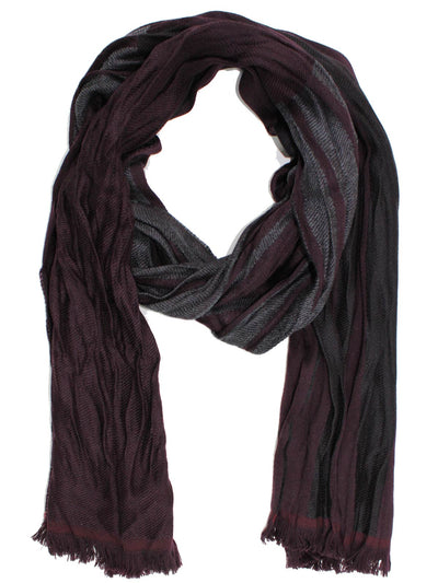 Sale Botticelli Wool Scarf Gray Wine Purple FINAL SALE