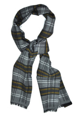 Giovanni Botticelli Wool Scarf Plaid Stripes