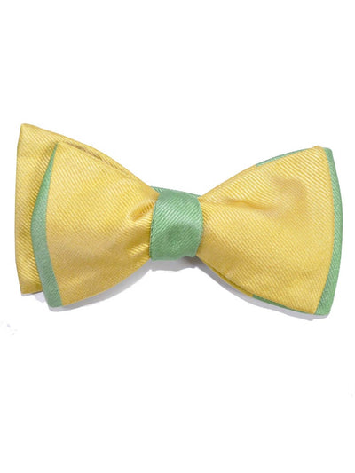 Gene Meyer Bow Tie Yellow Green Hand Made in Italy