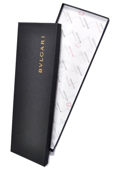 Bvlgari Sevenfold Tie Black Red Fish