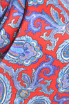 Brioni Tie Red Blue Paisley Design