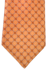 Brioni Tie Peach Gray Silver Design