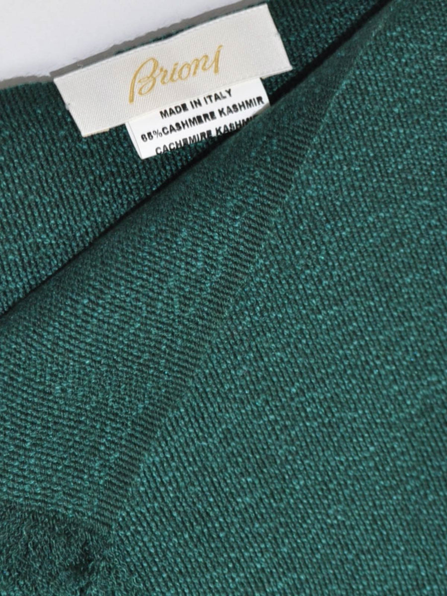 Brioni Scarf Green Cashmere Silk Shawl FINAL SALE