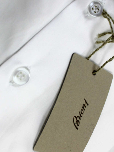 Brioni Dress Shirt White 42 - 16 1/2 Regular Fit