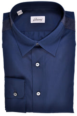 Brioni Sport Shirt Dark Navy 42 - 16 1/2