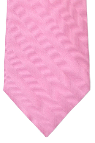 Brioni Tie Pink Solid Stripes - Wide Necktie SALE