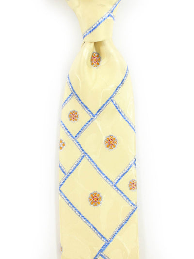 Brioni Tie Yellow-Cream