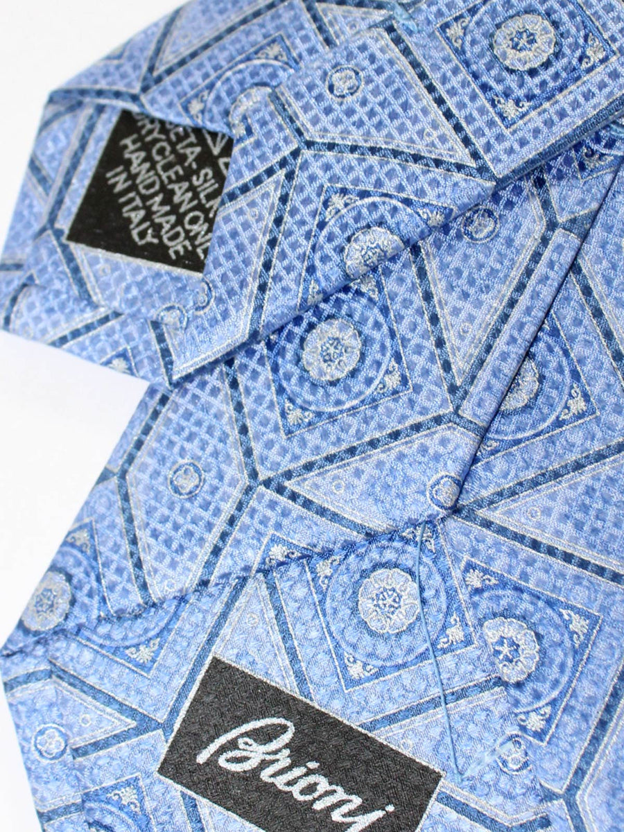 Brioni Silk Tie Blue Design New