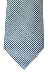 Brioni Tie Turquoise Green Silver - New Collection