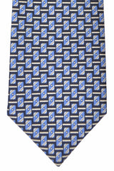 Brioni Tie Navy Blue Geometric - New Collection