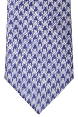 Brioni Tie Navy Silver Geometric - New Collection