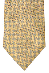 Brioni Tie Yellow Gold Geometric - New Collection