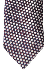 Brioni Tie Brown Black Silver Geometric - New Collection