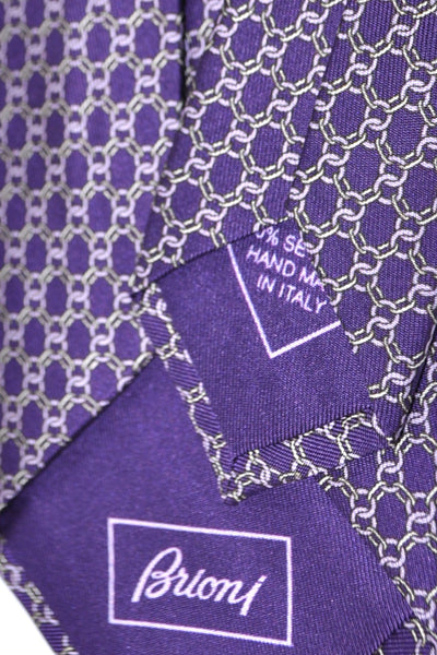 Brioni Tie Purple Geometric