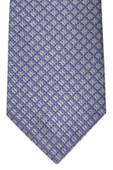 Brioni Tie Gray Midnight Blue Geometric - New Collection
