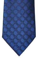 Brioni Tie Navy Black Geometric
