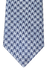 Brioni Tie Navy Houndstooth - New Collection