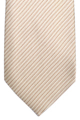 Brioni Tie Cream Stripes