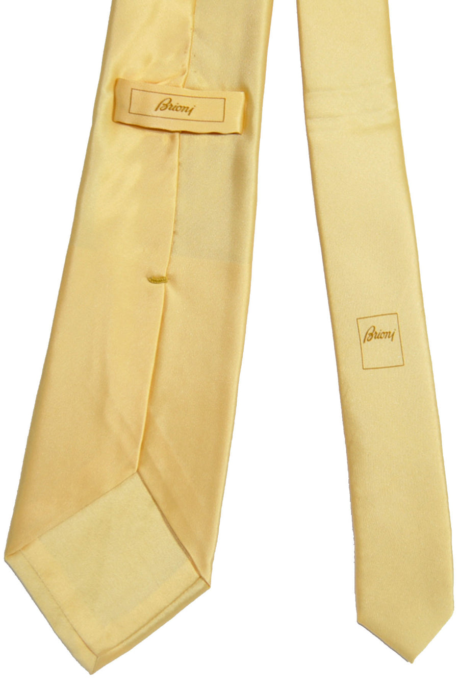 Brioni Tie Butter Cream Solid Design FINAL SALE