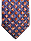 Brioni Tie Purple Orange Geometric Design