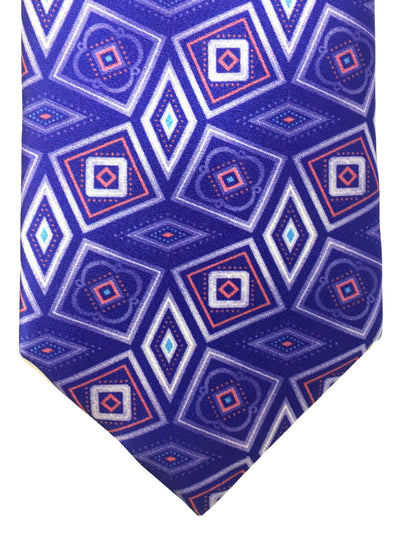Brioni Tie Purple Geometric Design