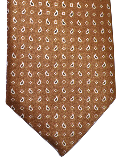 Brioni Tie Brown Paisley Design