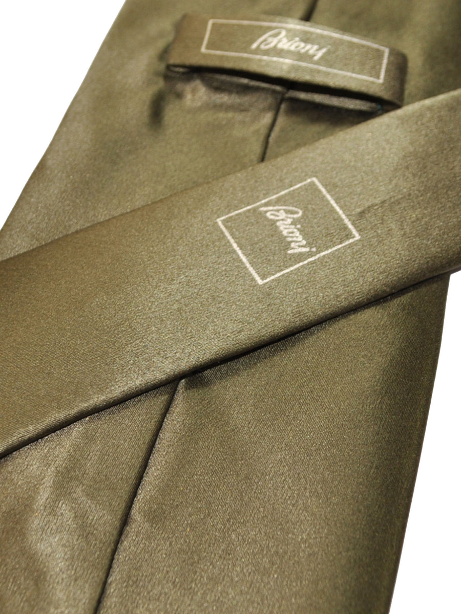 Brioni Tie Forest Green Solid Design