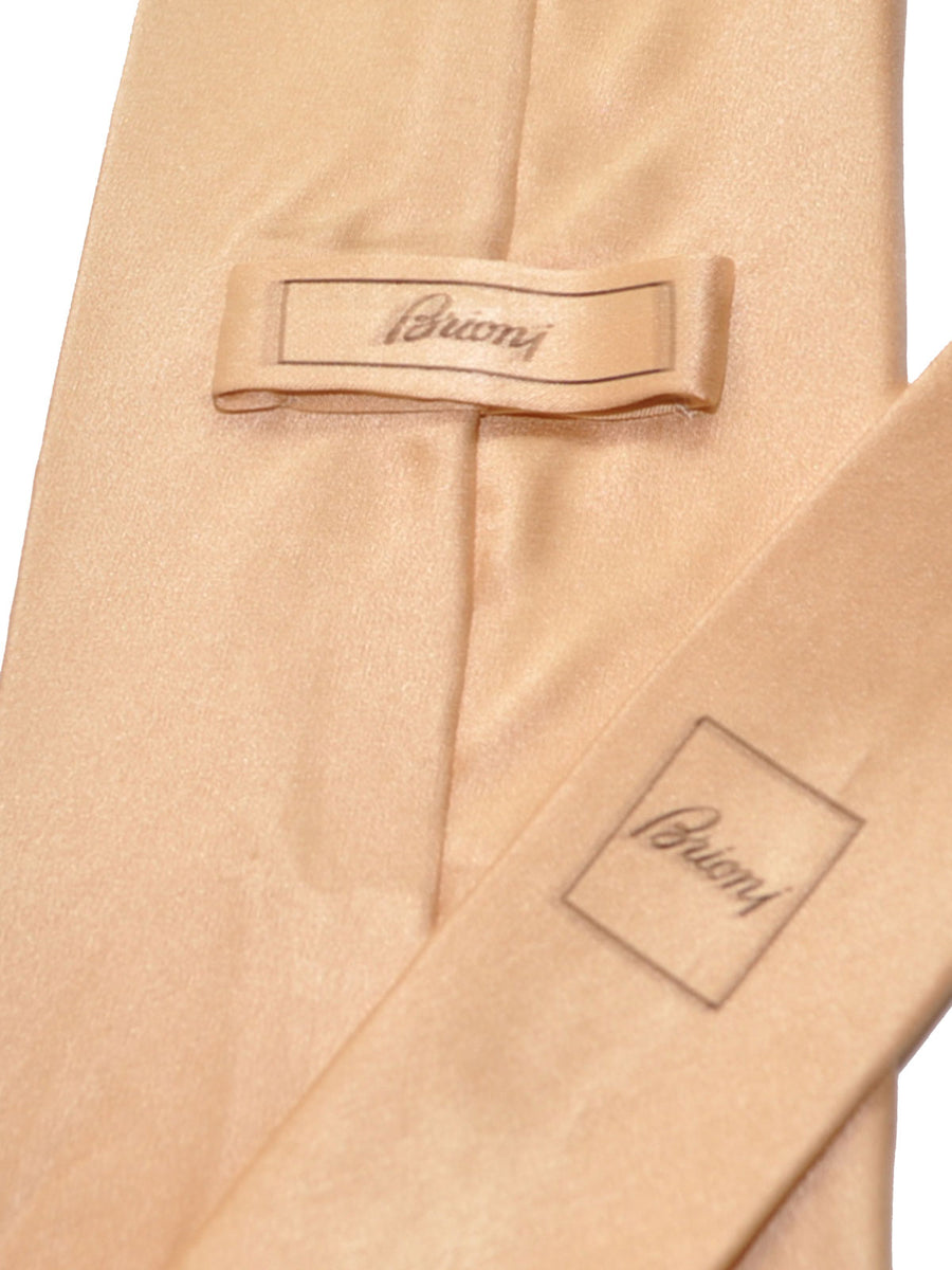 Brioni Tie Cream Solid Design