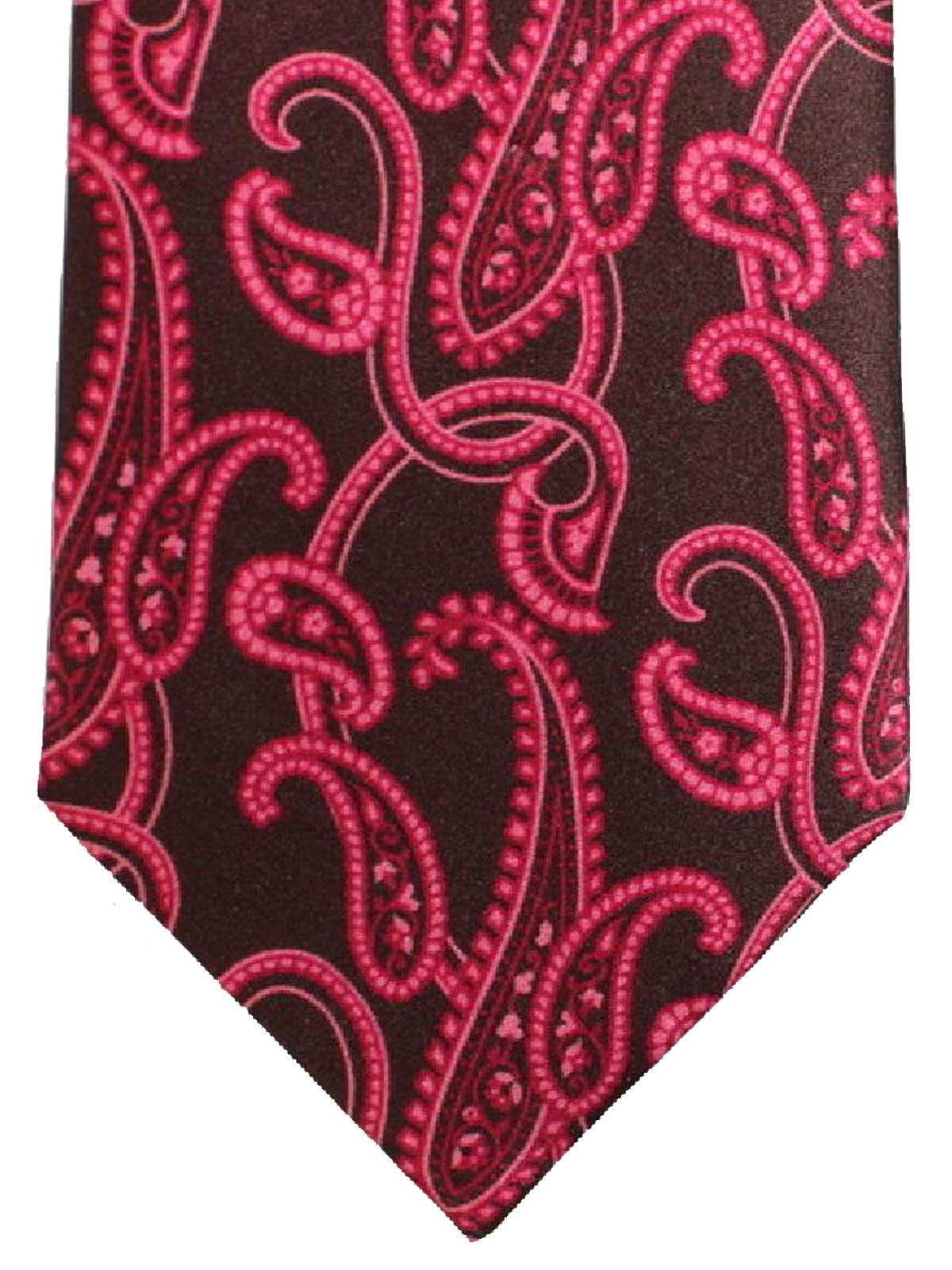6ae7f413a078 Brioni Tie Purple Fuchsia Paisley Design. Designer Ties. Men's Neckties